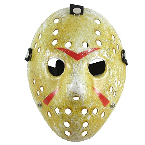 Hot Sale Horror Movie Hockey Mask Anonymous Scary Party Mask Halloween Cosplay (Hockey Mask Halloween Costume)