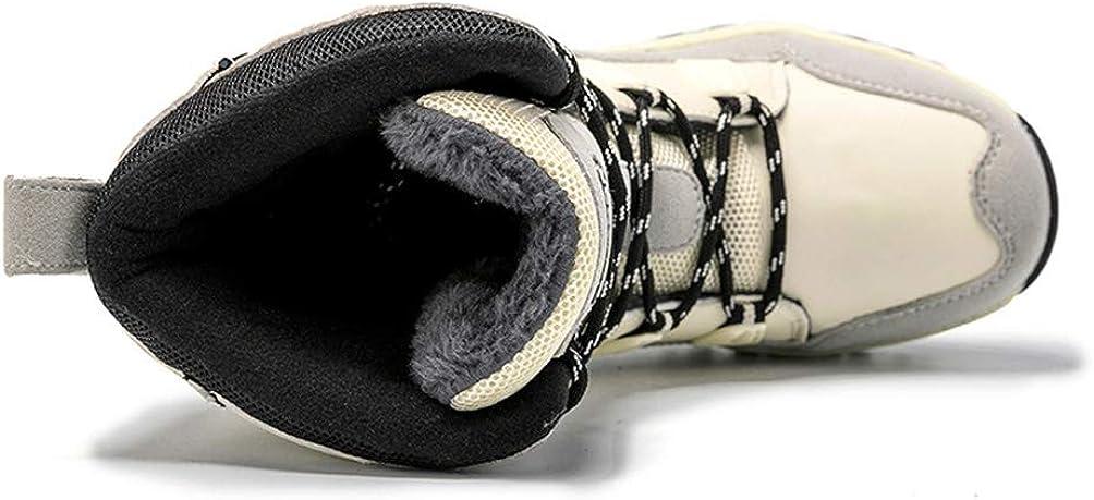 LXHK Donna Impermeabile Pioggia Stivali da Neve Inverno Foderato in Pile Caldo y Suola in Gomma Snow Boots Scarpe White