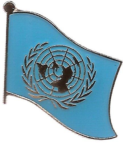 (Box of 12 United Nations Flag Lapel Pins, UN Single Flag Pin, UN Tie & Hat Pin)