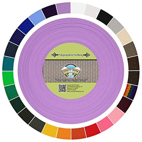 Country Brook Design - Polypropylene Webbing (Lavender, 25 Yards, 1 Inch)