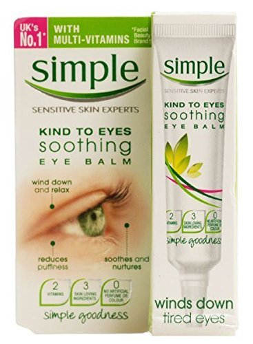 6 x Simple Kind To Eyes Soothing Eye Balm 15ml