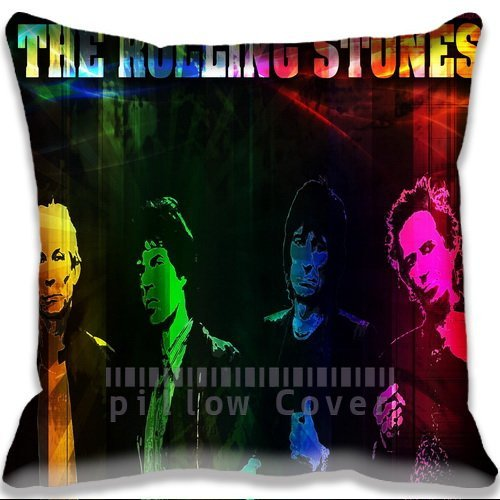 Cheap  music Colorful The Rolling Stone Cushion Cover Home Decorative Throw Pillow Case..
