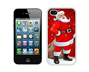 Custom-ized Diy For Iphone 5/5s Case Cover Protective Skin Case Cartoon Santa Claus White Diy For Iphone 5/5s Case Cover Case 1