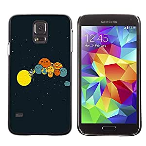 Be Good Phone Accessory // Dura Cáscara cubierta Protectora Caso Carcasa Funda de Protección para Samsung Galaxy S5 SM-G900 // Funny Planets Comedy