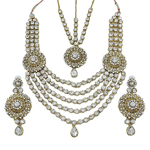 Banithani-Ethnic-Indian-Bollywood-CZ-Necklace-Set-Traditional-Wedding-Jewelry-Gift-For-Her