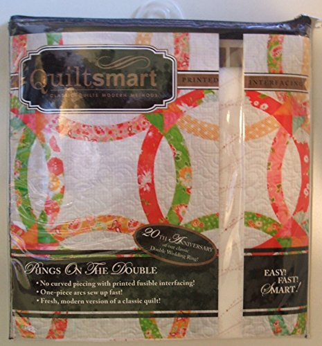 Quiltsmart Snuggler Pack Rings on the Double Wedding Fusible Interfacing Pattern