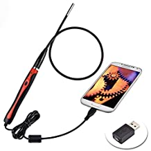 D-CLICK TM HD 720P 2.0 Megapixel Handle Flexble Semi-rigid Endoscope Inspection Camera Waterproof Tube for Android System Phone / Tablet Computer and Windows System (Handle)