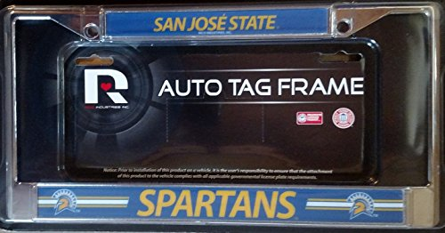 (FanNut.com San Jose State Spartans LBL Chrome Metal License Plate Tag Frame Cover University of)
