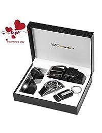 BSTcentelha Mens Watch Belt Keychain Sunglasses Gift Set Valentine's Day present gift