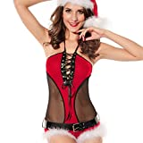 TomYork Christmas Lace Halter wrapped Sexy Game Uniform
