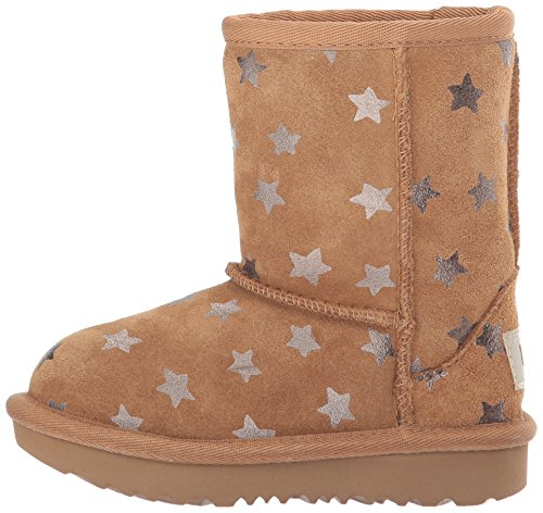 UGG Girls T Classic Short II Stars Pull-On Boot, Chestnut, 7 M US Toddler by UGG (Image #5)