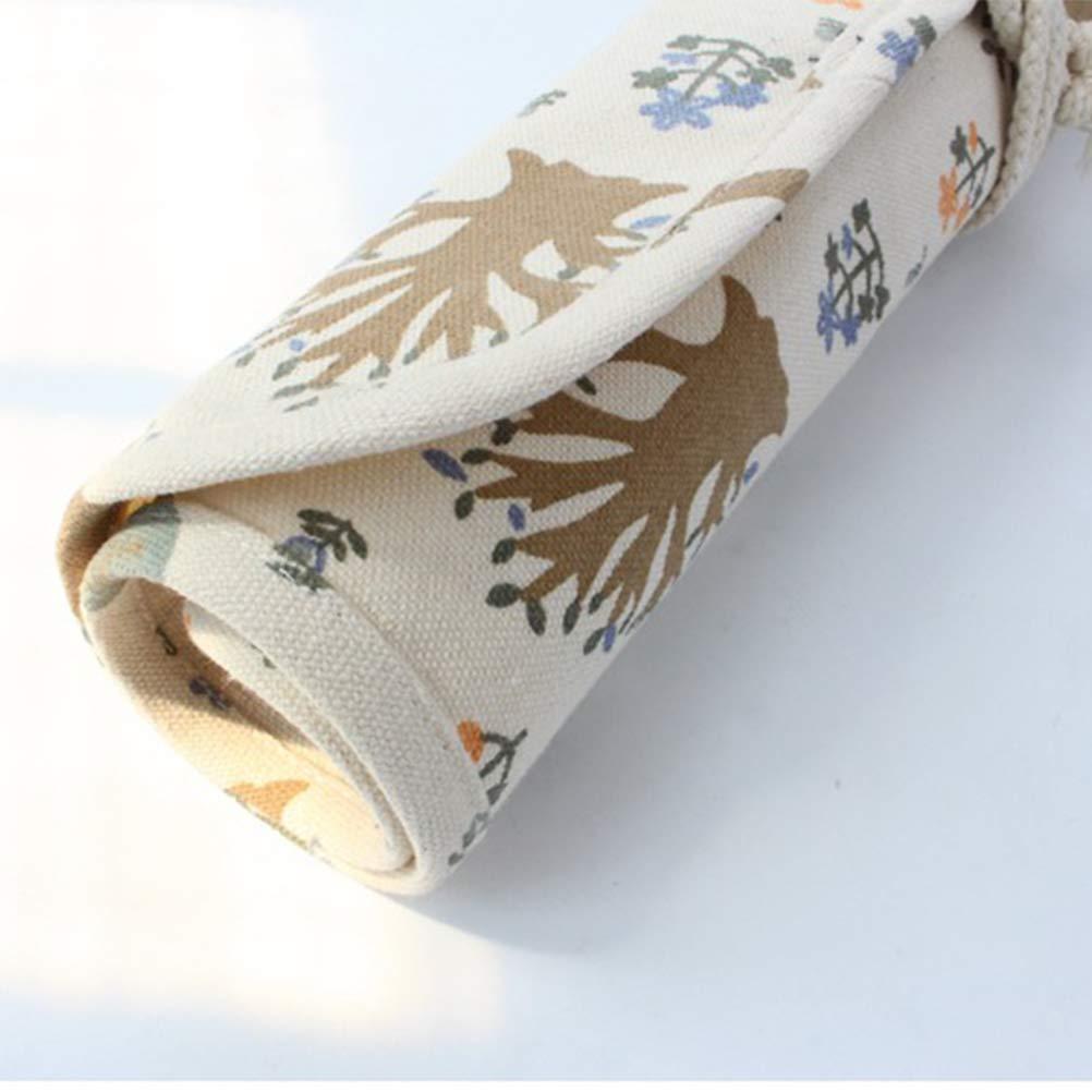 SUPVOX 20 Slots Pinseltasche Bleistift Organizer Wrap Roll Up Tasche f/ür Malerei Make-up Pinsel