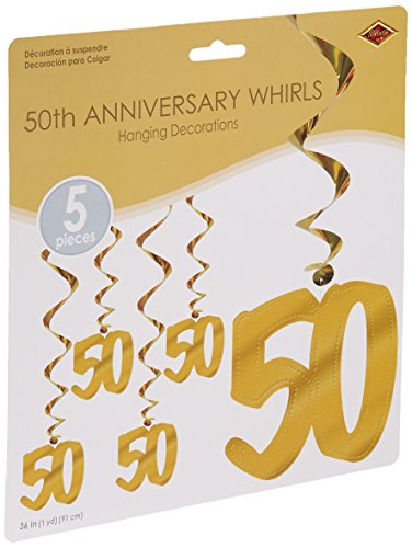 50th Anniversary Whirls   (5/Pkg) - 50th Anniversary Banner
