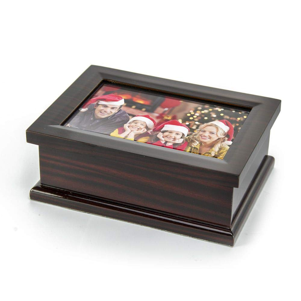 Sophisticated Modern 4 X 6 Photo Frame Musical Jewelry Box - Can't Take My Eyes Off You