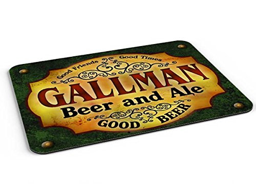 Gallman Beer & Ale Mousepad/Desk Valet/Coffee Station Mat