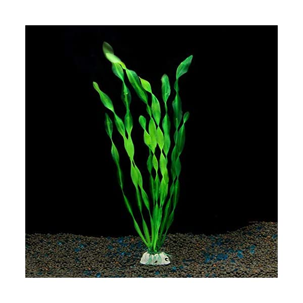 MyLifeUNIT Artificial Seaweed Water Plants for Aquarium, Plastic Fish Tank Plant Decorations 10 PCS 7