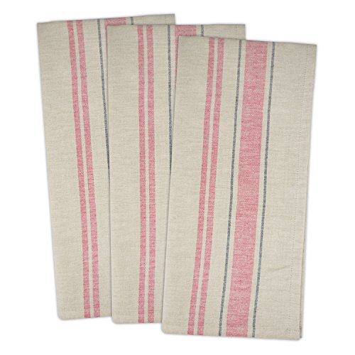 - DII Cotton Oversized French Stripe Dish Towels, 20 x 30