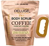 deluge DELUGE - Organic Coffee Body Scrub, Firms and Tones Skin, Reduces Cellulite. Acne, Stretch Marks, Spider Veins, Eczema, Varicose Veins Treatment. 100% Natural 10 OZ. Ultra Nourishing. by DELUGE --