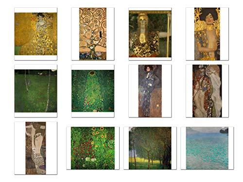 Wish Pub - Set of 12 Unframed Fine Art Prints, Gustav Klimt, 12x16 inch