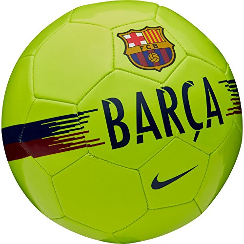 (Nike FC Barcelona Supporters Football Unisex Adult, Volt/Noble Red/Deep Royal Blue, 5)