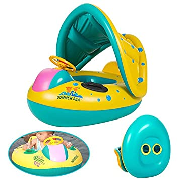 Neverland hinchable B š Š B š Š flotador Seat barco Anillo sombrilla ajustable PROT š Š gez Swim Pool: Amazon.es: Juguetes y juegos