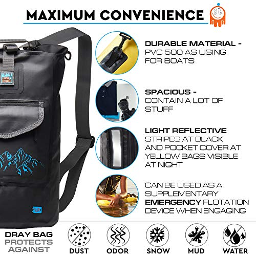 Luck route Waterproof Dry Bag Backpack Straps Smart Pockets - Floating  DryBag Storage Beach - Sack 3b9f8f8535a00