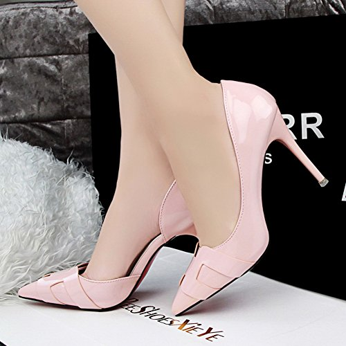 No.66 Town Women's Pointed-Toe High Heel D'Orsay Dress Pump Court Shoes Pink BGIJW