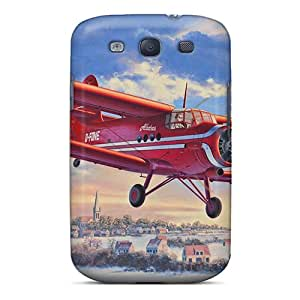 Premium Tpu Plane, Propeller, Sky, Picture Cover Skin For Galaxy S3