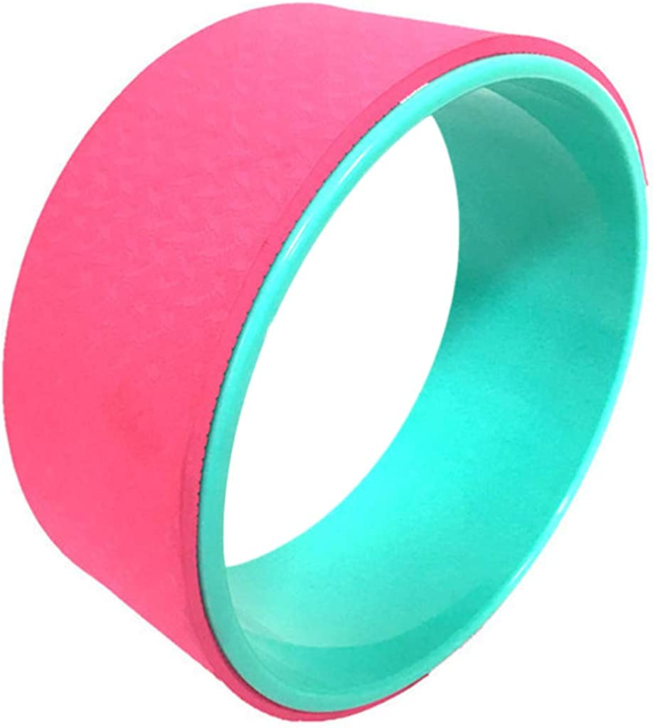 FakMe Yoga Wheel for Back Pain Yoga Wheel Set Yoga Blocks Foam Blocks Yoga Strap Resistance Exercise Bands