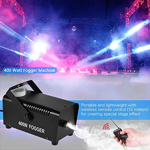 Watt Fogger Fog Smoke Machine with Remote Control for Party Live Concert DJ Bar KTV Stage Effect ()