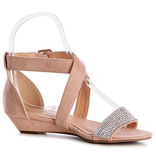 Sandales Femmes Topschuhe24 Sandalettes Sandalettes Topschuhe24 Sandales Rose Rose Femmes S16wqazw
