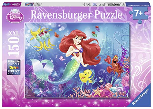 Ravensburger Disney Princess: Everyone Loves Arielle 150 Piece Jigsaw Puzzle for Kids – Every Piece is Unique, Pieces Fit Together Perfectly