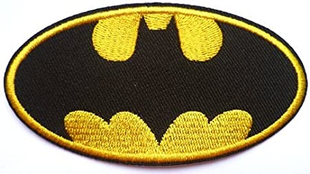 2 NEW BATMAN IRON ON EMBROIDERED PATCH APPLIQUE NO SEW *SHIPS FREE*
