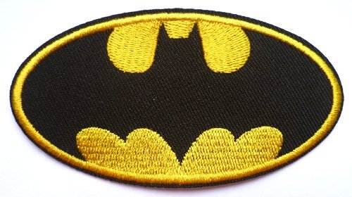 Batman Iron on Sew on Embroidered Patch Badge Applique Motif by Fat-catz-copy-catz