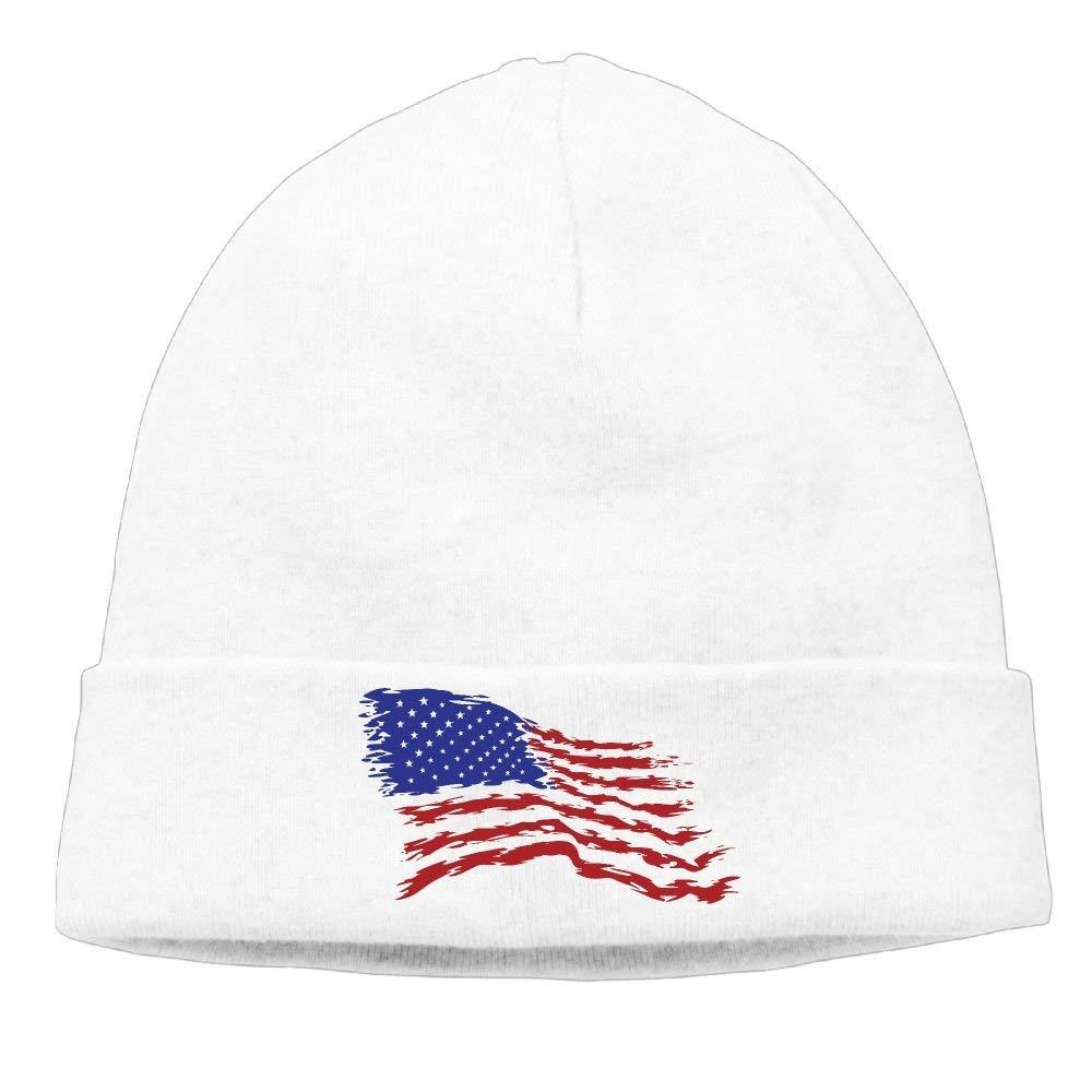 ecfb1f26c8c prisiraseea Men Women USA Flag Beanie Winter Warm Knitting Hats White at  Amazon Men s Clothing store