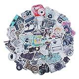 Navy Peony Vintage Camera Stickers