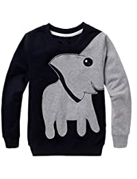 Lisin Toddler Baby Girls Boys Clothes Elephant Long Sleeve Blouse Tops Sweater Shirt