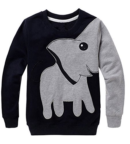 Clearance Sale! VEKDONE Toddler Baby Girls Boys Clothes Elephant Long Sleeve Blouse Tops Sweater Shirt (Gray, Size:5T) from VEKDONE