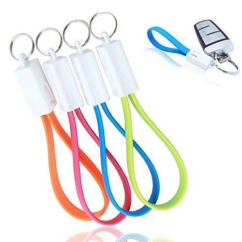 Amazon.com: Cargador portátil llavero Micro USB Cable para ...