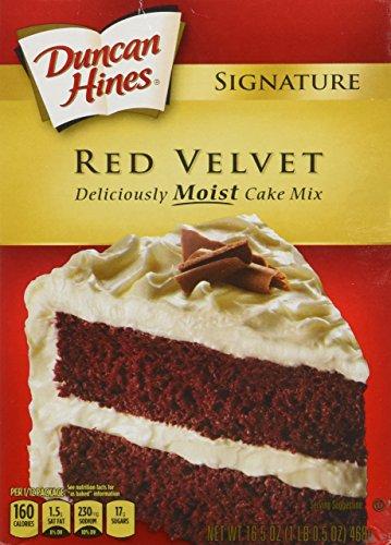 Duncan Hines Signature Red Velvet Deliciously Moist Cake Mix 1 Lb. 2.25 Oz. Box (3 (Red Clover Honey)