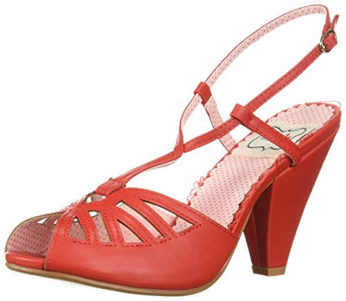 Bettie Page Women's Bp403-Aria Heeled Sandal Red low price fee shipping sale online free shipping hot sale find great cheap online wKAbCJ95P