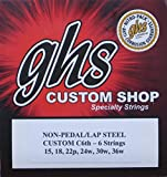 GHS Custom C6th- 6 Lap Steel Guitar Strings Gauges 15-36W - 2 Sets