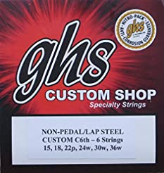 GHS Custom C6th- 6 Lap Steel Guitar Stri...