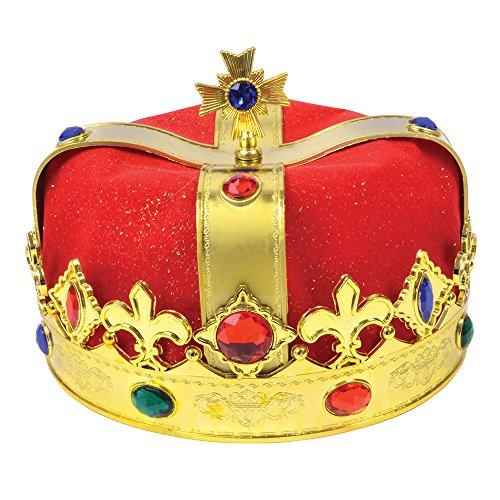 Bristol Novelty BH316 Kings Velvet Hat, Mens, Red, One -
