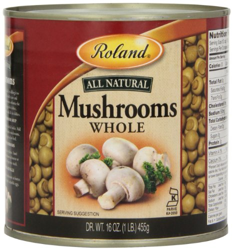 UPC 041224446403, Roland Mushrooms, Whole, 16 Ounce (Pack of 4)
