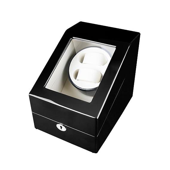 NINUO Watch Winder Box 2 + 3 para relojes automáticos Rolex 5 modos de velocidad (