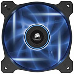 Superior Cooling Performance and LED Illumination Corsair Air Series LED high airflow PC case fans combine efficient, low-noise airflow with striking LED lighting. The custom-molded blades are designed for high-volume air delivery w...