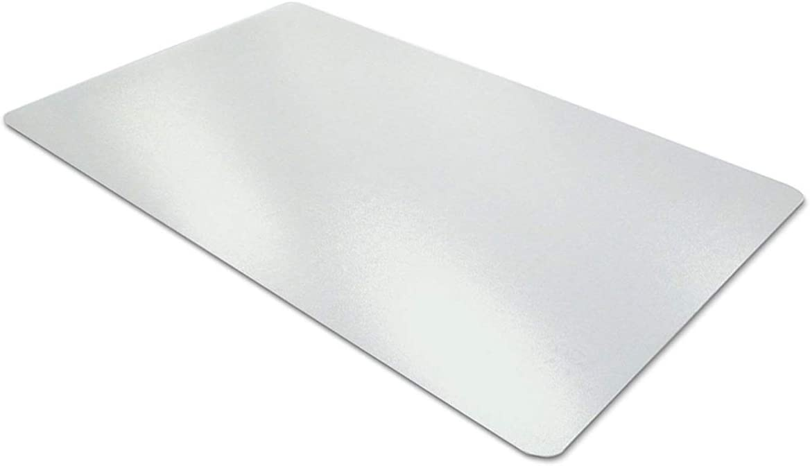Clear Desk Pad, Aisakoc 35.5''x15.8'' Non-Slip Textured PVC Soft Desk Writing Mat - Round Edges Desk Protector