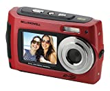 Bell+Howell 2VIEW 18.0MP HD Dual Screen Underwater Digital & Video Camera (Waterproof to 10 ft.), 2.7'', Red (2VIEW18-R)