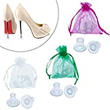 Mtlee 6 Pairs High Heel Protectors Heel Stoppers, Small/ Middle/ Large (Transparent)
